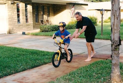 Dennis losing training wheels