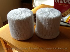 s'mores, knit: bottom edges as seen