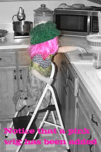 Fixing dinner