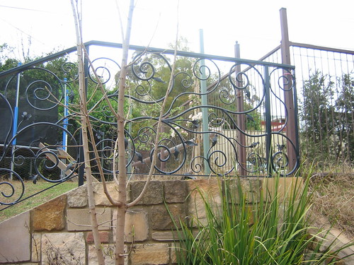 Gate and apple trees (Oct 2009)