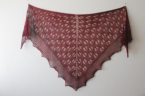 Monica's Shawl knit in Zen Yarn Garden Pure Silk Lace
