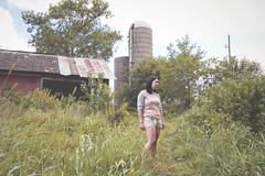 (tinyearthquakes) Tags: summer house selfportrait green abandoned girl grass barn illinois farm september silo abandonment 2011