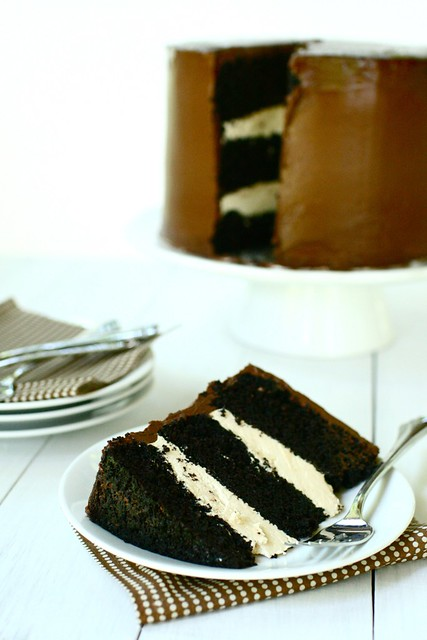 Dark Chocolate Salted Caramel Layer Cake - Annie's EatsAnnie's Eats