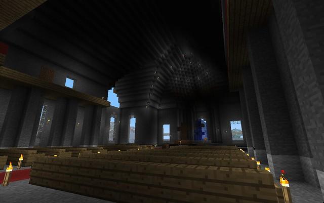 Vue sur la nef et le choeur