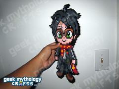Geek Mythology Crafts Chibishou 2.0 Bead Sprite Harry Potter (Geek Mythology Crafts) Tags: videogames pixelart 8bit hamabeads perlerbeads geekcraft beadsprite nabbibeads