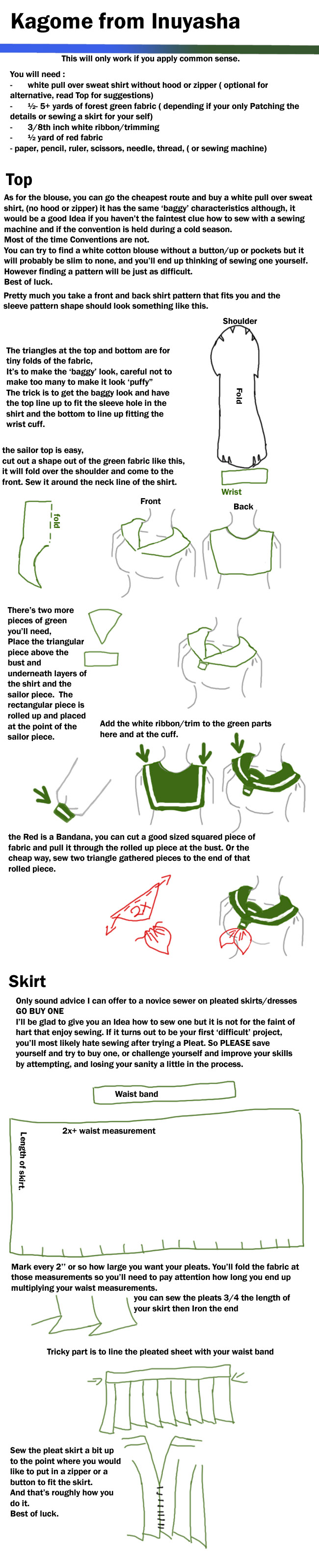 How to Make the Inuyasha Kagome Cosplay Costume