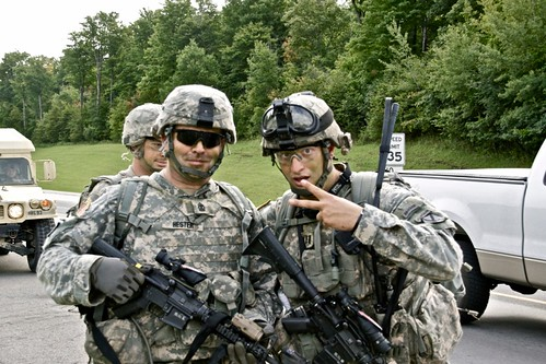 Commander and 1st SGT.