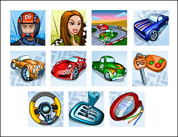 free Daytona Gold slot game symbols