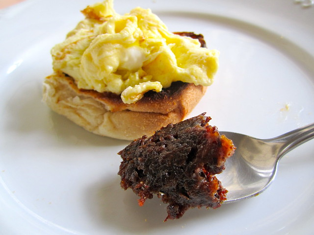 Truffled Scrambled eggs + Bacon Jam