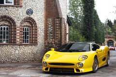 Big Cat. (Alex Penfold) Tags: auto camera cars alex sports car sport yellow mobile canon photography eos gold photo cool flickr image awesome flash sunday wheels picture s super spot front international exotic photograph jag spotted hyper jaguar rims bbs supercar spotting numberplate p1 exotica sportscar sportscars supercars 220 xj penfold twr spotter 2011 gt1 xj220 hypercar 60d hypercars alexpenfold