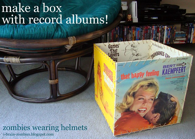 make a box with record albums