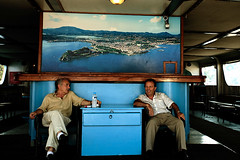 Happy ferry boat drivers (Sakis Dazanis) Tags: ferry happy boat corfu kerkyra drivers paxi sakis     dazanis