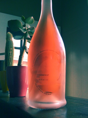 What a treat. One of the last cases of 8th Generation Confidence rosé frizzante. Happy sigh.  in Vancouver, BC by Melody Gourmet Fury