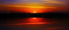 Bushfire Sunset (rhyspope) Tags: park new pink blue sunset summer sky orange cloud lake black mountains reflection tree water glass beauty silhouette yellow wales canon river fire mirror bush smoke south australia national nsw bushfire woodford 500d rhyspope