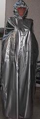 New shiny silver vinyl cape14 (lacki310510) Tags: rain rubber latex cape raincape rainwaer kleppercape latexcape rubbercape vinylcape lackcape lacklatex vinylraincape latexraincape