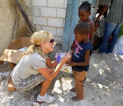 Tammy DiPenti in Haiti