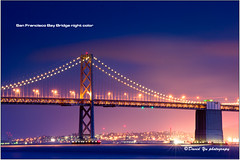 San Francisco Bay Bridge Night Color (davidyuweb) Tags: sanfrancisco california bridge blue usa color night bay twilight san francisco moment sfbay sfist