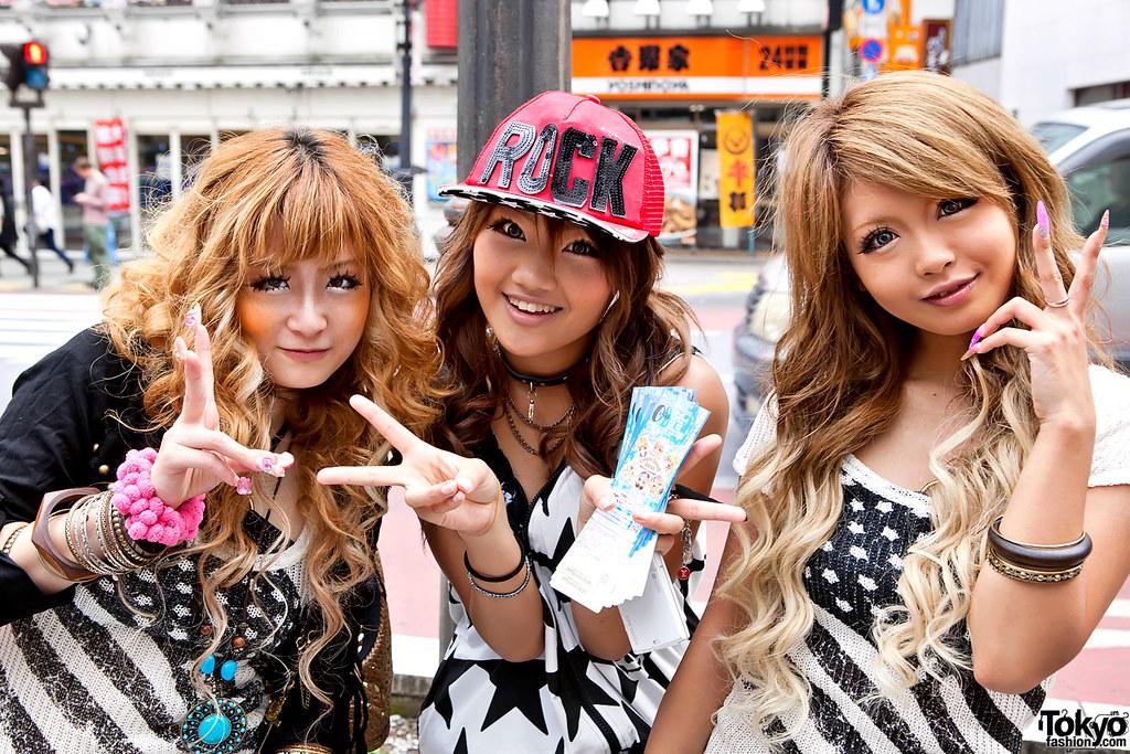 Fun Shibuya Girls (tokyofashion) Tags: girls summer girl hat fashion rock  japan hair