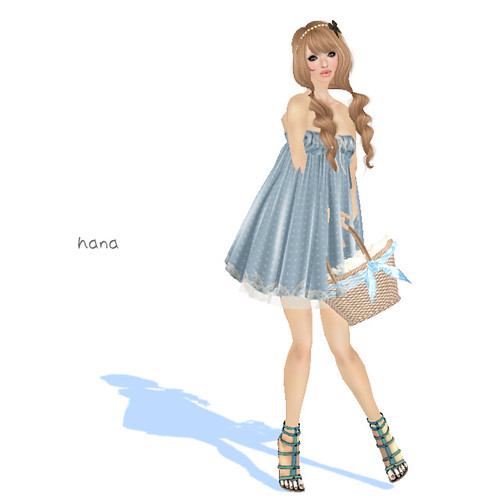 = Hal*Hina = dot mini one-piece [blue]