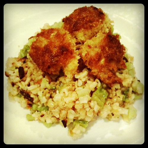 Panko Shrimp and Broccoli Pilaf