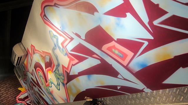 wall art at omg tacos