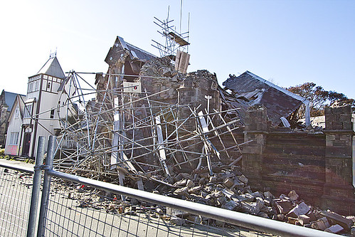 Earthquake repair scaffold collapsed in second quake