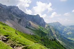 View from Mt. Pilatus hiking trail (andreaskoeberl) Tags: mountain alps clouds switzerland nikon hiking trail pilatus lucerne swissalps mountpilatus 1685 d7000 nikon1685 nikond7000 andreaskoeberl