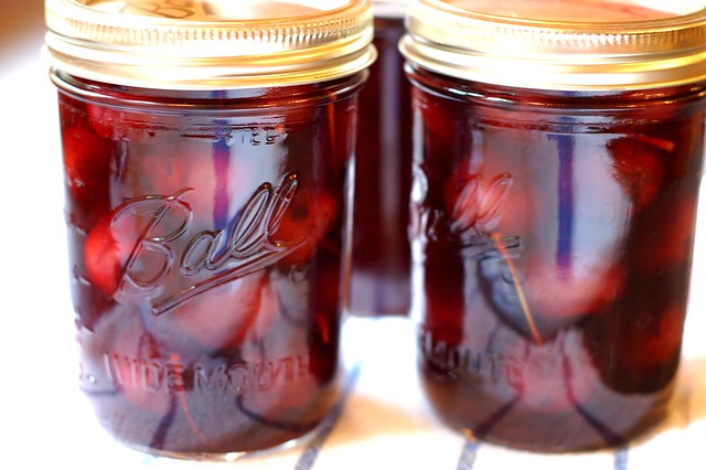 Homemade maraschino cherries by Eve Fox, Garden of Eating blog, copyright 2011