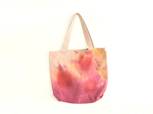 pink texture tote