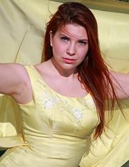 An Alaskan redhead in yellow (IMG_0047a) (Alaskan Dude) Tags: beauty fashion alaska portraits women amy modeling jennifer models anchorage photoshoots jenx kincaidbeach