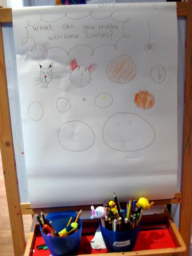 preschool literacy ideas easel