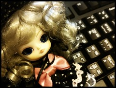 She is distracting me from working > < (hplek) Tags: doll little dal groove mad hatter