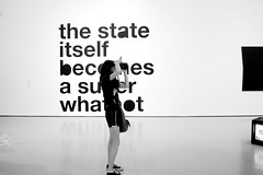 (L I L L I  N) Tags: new york city nyc newyorkcity blackandwhite white ny newyork black art girl museum modern artwork moma museumofmodernart themuseumofmodernart