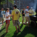 Several grills were fired up at once to feed the hungry crowd of students attending Chillin' and Grillin'.