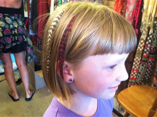 Eden's hair feather