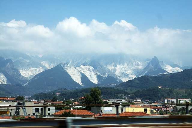 Carrara, home of the finest marble on Earth