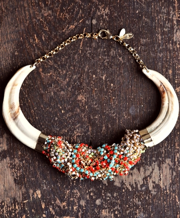 horn necklace, beaded necklace, choker, detail_569_ios-limited-1