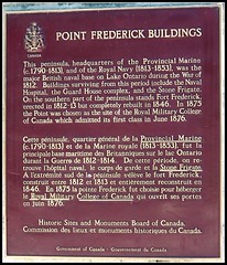 Point Frederick Buildings (Will S.) Tags: mypics kingston ontario canada rmc royalmilitarycollegeofcanada plaque pointfrederick collègemilitaireroyalducanada plaques