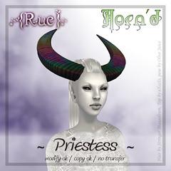 .{Rue}. Horn'd / Priestess