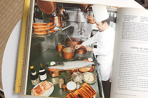 chef and copper cookware
