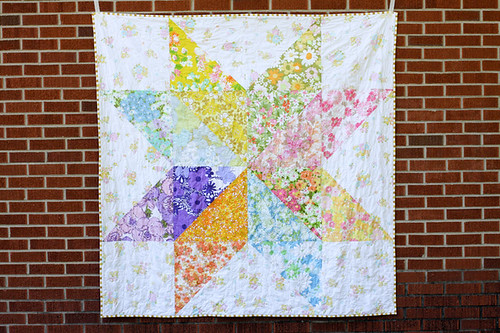 Giant Vintage Star Quilt - In Color Order