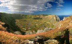 Rano Kau Crater (hapulcu) Tags: chile polynesia crater southpacific easterisland rapanui ranokau isladepascua hangaroa orongo