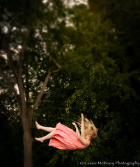 Fall (CassieMcReavy) Tags: pink trees summer fall fairytale forest hair fly flying dress magic falling cassie fairy midnight tale the mcreavy cassiemcreavy