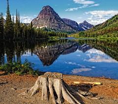 Mountain Splendor (Phil's Pixels) Tags: morning reflections dawn montana lakes glaciernationalpark twomedicine notanhdr praylake mtsinopah