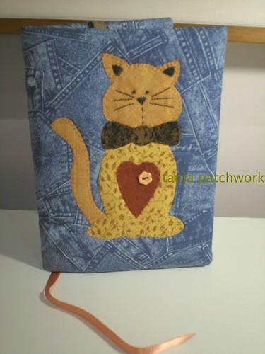 Capa de caderno Gatinho by tania patchwork