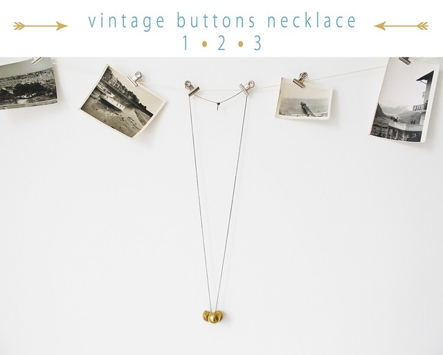 vintage buttons necklace DIY