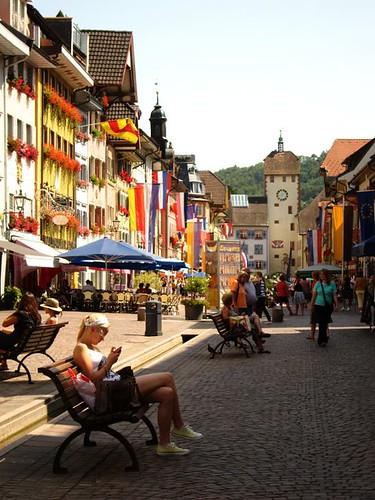 main street in a small german town waldshut tiengen by Danalynn C