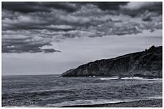 Cool Wind (Tk_White) Tags: ocean sea summer sky white canada black water skyline clouds 35mm newfoundland silver landscape prime mono stjohns nik seashore d7000