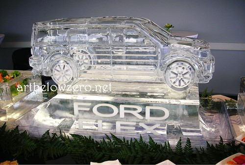 Ford Flex 3D ice sculpture