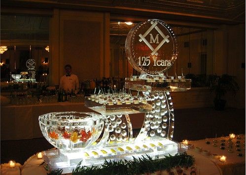 London Platters ice sculpture